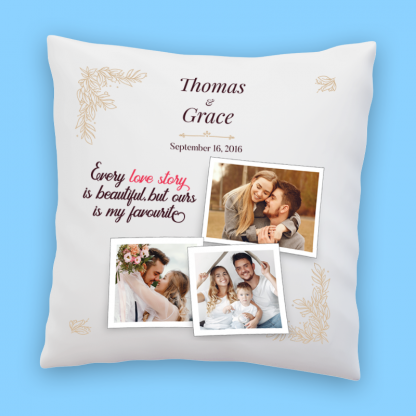 love story pillow front