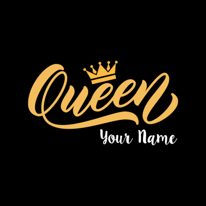 queen design with name image 1