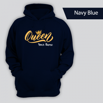queen design with name navy blue