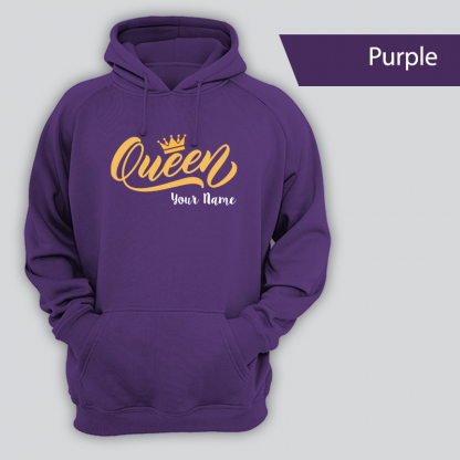 queen design with name purple