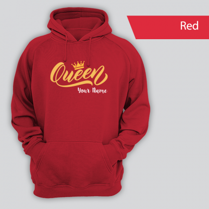 queen design with name red