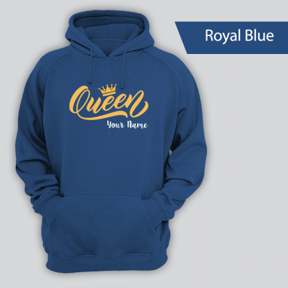 queen design with name royal blue