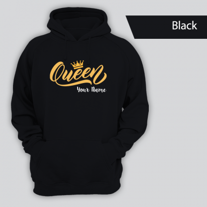 queen design with name. blackpng