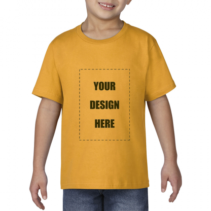 kids tee blank front gold1