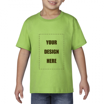 kids tee blank front lime1