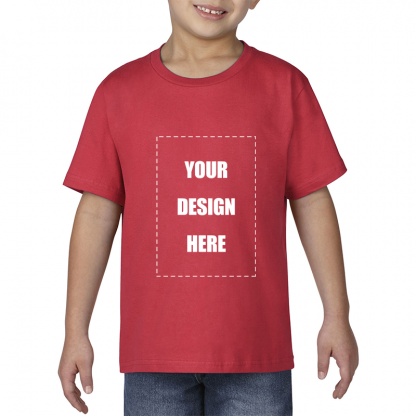 kids tee blank front red1