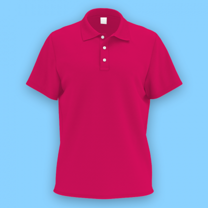 own design microfiber polo tee helconia front