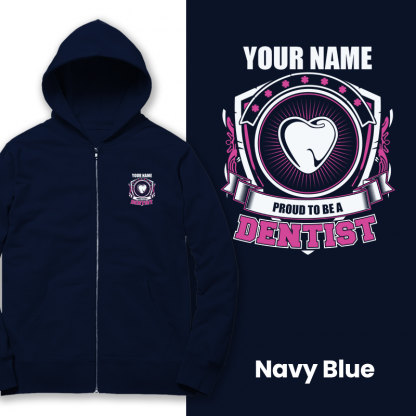 proud to be a dentist navy blue