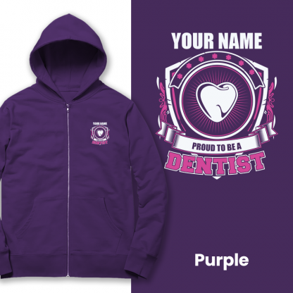 proud to be a dentist purple