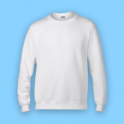 sweater sport white front