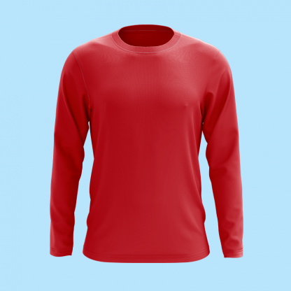 Long sleeve red front