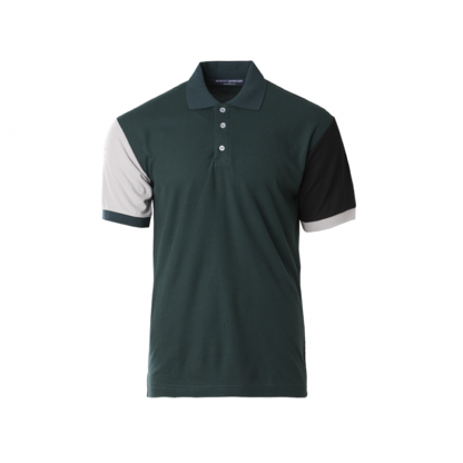 nhb 2300 polo tee forest green charcoal black