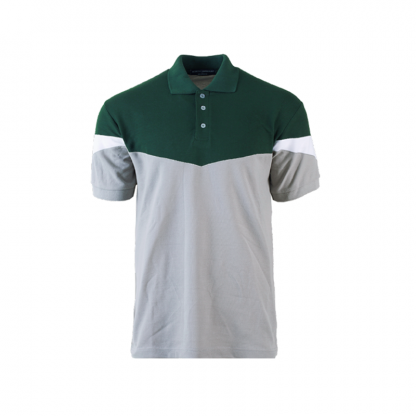 nhb 2900 polo tee forest green charcoal white