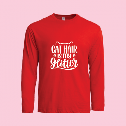 Cat Hair Is My Glitter Red