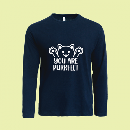 You Are Purrfect long sleeve navy
