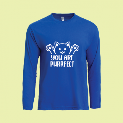 You Are Purrfect long sleeve royal