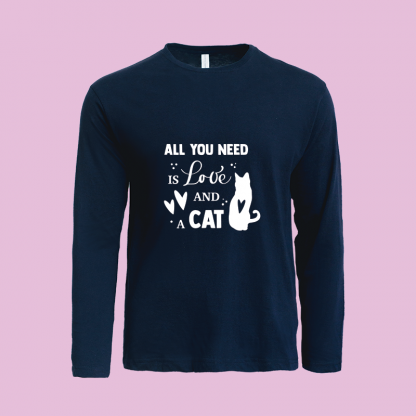 All You Need Is Love Cat Navy