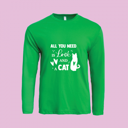 All You Need Is Love Cat green