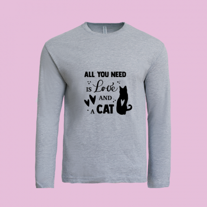 All You Need Is Love Cat grey