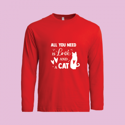 All You Need Is Love Cat red