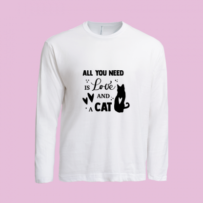 All You Need Is Love Cat white