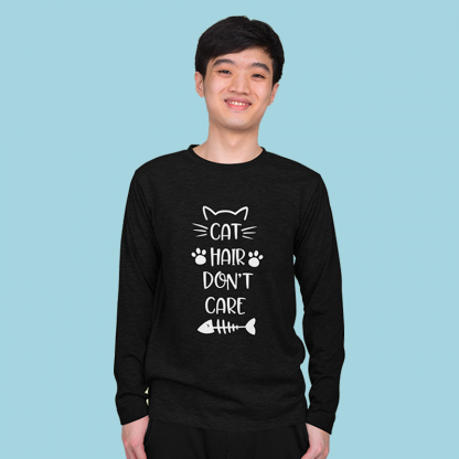 Cat hair dont care cotton long sleeve 3