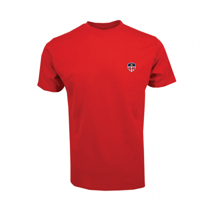 Short sleeve cotton red