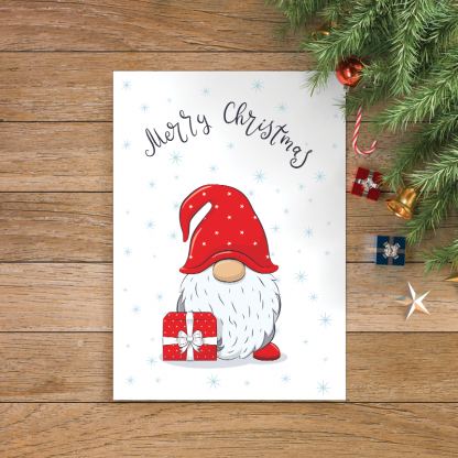 4 Cute Gnome With Phase Merry Christmas