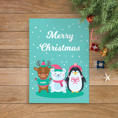 5 Cute Animals With Merry Christmas