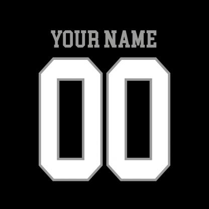 rw short sleeve cotton black name back
